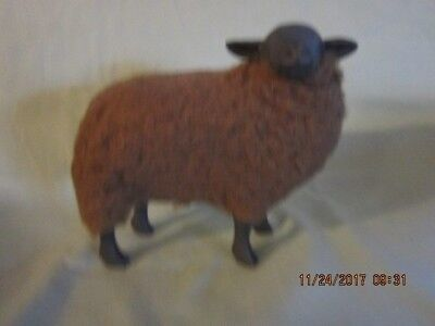Vintage Wooly Sheep-Dark Brown w/ Black Bisque face and legs-