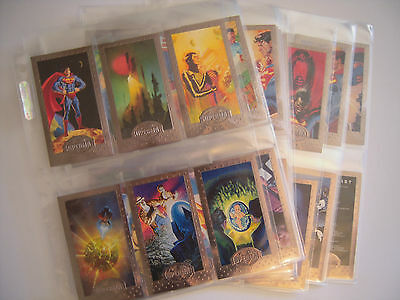 Superman Man Of Steel   Silver   Set  Complet  90  Cards 1994 Tbe