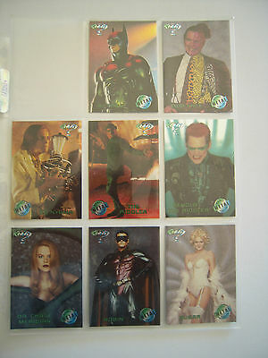 Batman  Forever Metal    Sub Set  Complet  8  Cards Movie Preview 1995 Tbe