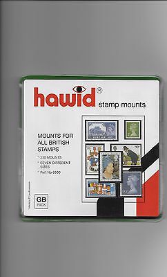 Hawid Mounts G.b. Mixed Pre Cut Pack  350 Mounts Black