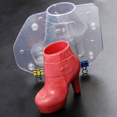 3D High Heel Shoes Chocolate Candy Mold Cake Decro Mold DIY Jelly Mould Clear