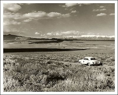 1950s Vtg Orig. 8x10 Photograph GAME WARDEN'S 1952 CHEVY, CROWLEY LAKE, INYO CO,