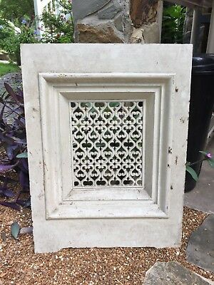 """Antique Cast Iron Ornate Fireplace Cover 28""""H x 20.5""""W"""