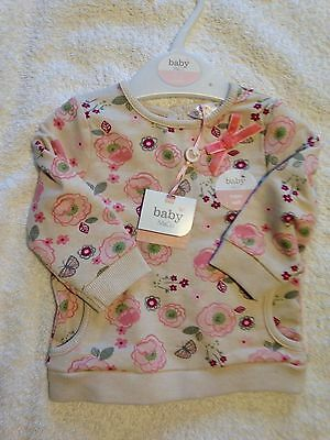 NEW M&Co Girls top Age 0-3 Months RRP £10