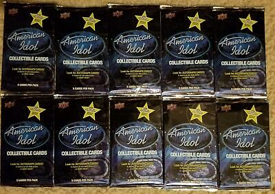 American Idol Lot (10) Season 8 New Unopened Packs Trading Cards Upper Decker
