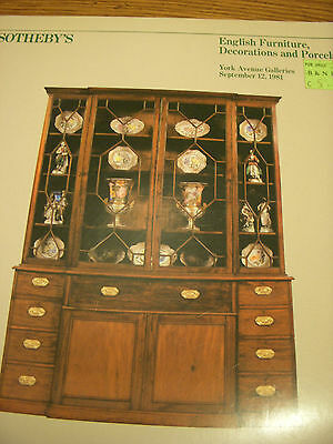 Sotheby's English furniture, Decorations and porcelain September 12,1981