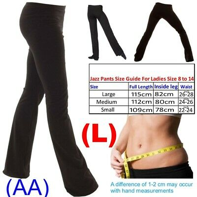 (L) Ladies Girls Boys Men Dance Cotton Spandex Jazz Pants Trousers LONG LEG (AA)