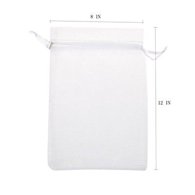 KUPOO Pack of 50PCS 8x12 Inch Organza Drawstring Gift Bag Pouch Wrap for Part...