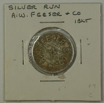 Early 20th Century 1 Bucket Trade Token A.W. Feeser & CO. Silver Run MD S-F-9