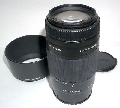 Sony 75-300mm f/4.5-5 for Sony A Mount DSLR.