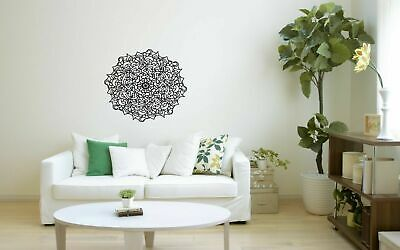 Wall Vinyl Sticker Decal Mural Design Art Mandala Ornament Yoga bo406