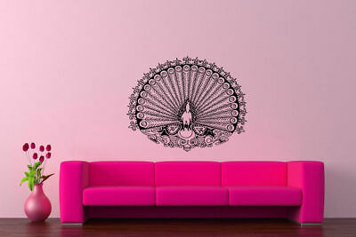 Wall Vinyl Sticker Decal Mural Design Art Mandala Peacock Ornament Yoga bo404