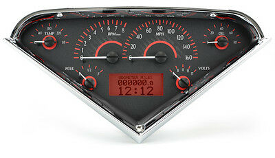 1955-59 Chevy Pickup VHX Instruments (Carbon Fiber Red)