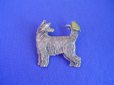Chinese Crested puff and Butterfly pin #22E Toy DOG jewelry by Cindy A. Conter