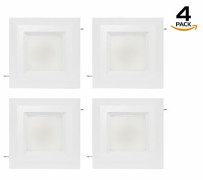 Westgate LED 9W 4 Inch Square Recessed Light Retrofit Downlight With Baffle Trim