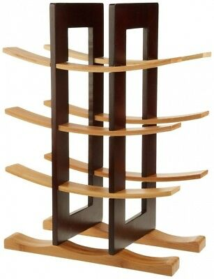 (Combination) - DisplayGifts® Free Standing 12-Bottle Bamboo Wine Rack Storage