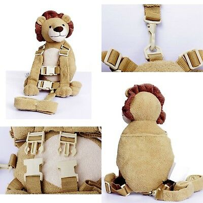 Berhapy 2 in 1 Lion Toddler Safety Harness Backpack Children's Walking Leash ...