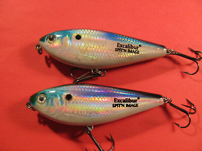 Vintage Excalibur Lures, Lot Of 2, Bill Dance Spit'n Image, Top Water.