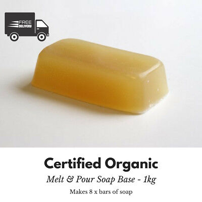 1kg - Stephenson Crystal Certified Organic – Melt and Pour Soap Base