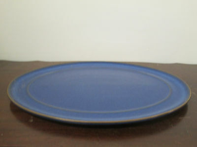 Denby Imperial Blue fine English china 1- oval platter new perfect condit