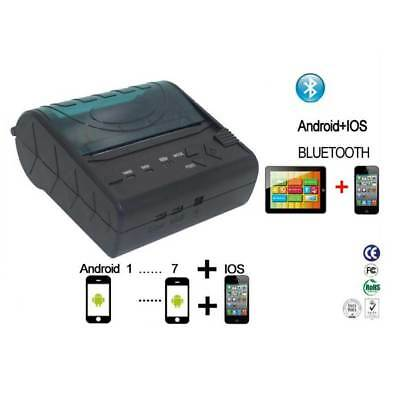 80mm MiNi Portable Bluetooth Thermal Bill Printer USB Interface for Android IOS