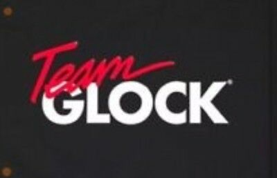 Team Glock 3'x5' Flag Banner Black And Red Pistol Revolver Rifle 9mm NRA