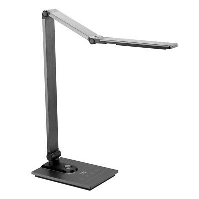 LED Dimmable Desk Lamp Touch Sensor Metal Table Light USB Output Port (5V 2A)