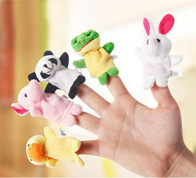 1x2x5x Lot Finger Puppets Cloth Doll Baby Educational Hand Cartoon Animal Toy