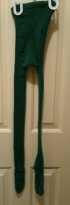 HANNA ANDERSSON 120  COTTON FOOTED TIGHTS green socks  stockings christmas
