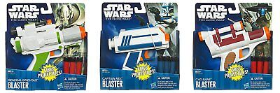 NERF Star Wars The Clone Wars Blasters Captain Rex General Grievious Cad Bane