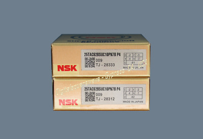 NSK 25TAC62BSUC10PN7BP4 ABEC-7 High Precision Ball Screw Bearing. Matched Pair