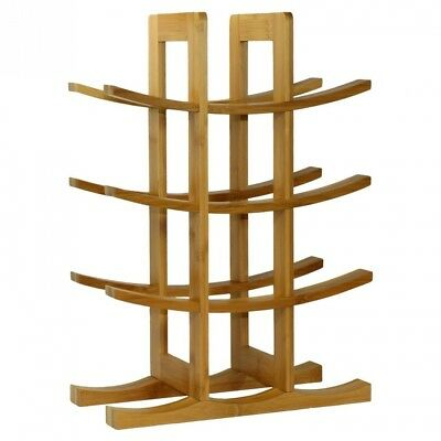(Natural) - DisplayGifts® Free Standing 12-Bottle Bamboo Wine Rack Storage
