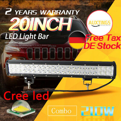 Cree 20 inch 126W LED LIGHT BAR COMBO Offroad DRIVING LAMP 4WD WORK ATV UTE 20''
