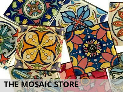 Mexican Inspired Glass Mosaic Tiles 5cm (Mix 5) - Supplies Art Craft