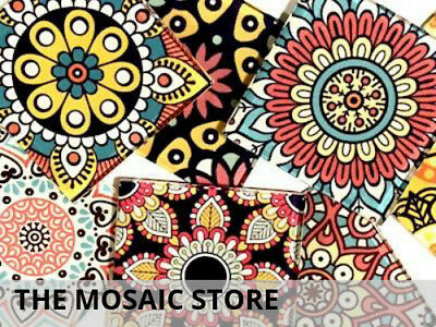 Mexican Inspired Glass Mosaic Tiles 5cm (Mix 1) - Supplies Art Craft