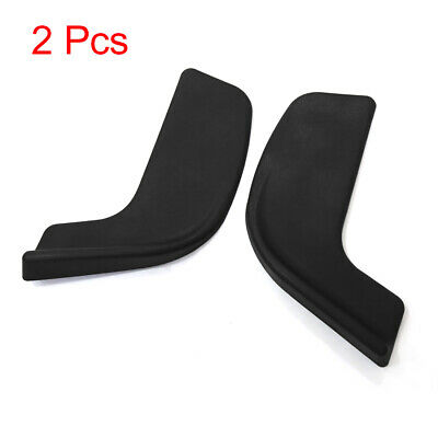 2Pcs Universal Plastic Car Left Right Side Front Bumper Lip Guard Protector