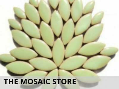 Peppermint Green Ceramic Petals - Mosaic Tiles Supplies Art Craft