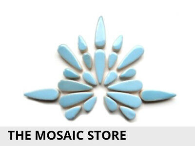 Light Blue Ceramic Teardrops - Mosaic Tiles Supplies Art Craft