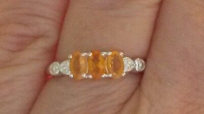 Jalisco fire opal ring in 925 silver size M