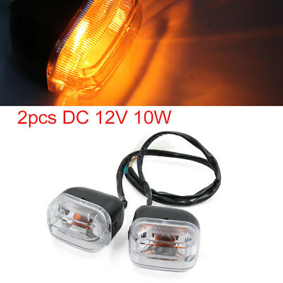 2pcs DC 12V 10W Amber Color Motorcycle Turn Signal Indicator Light for BWS