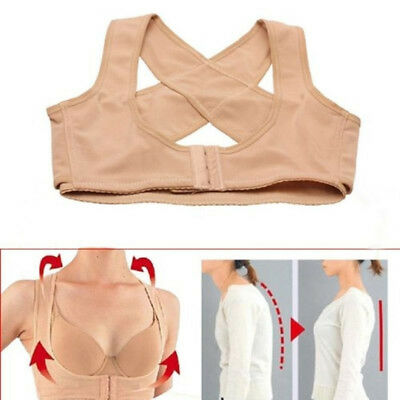Adjustable Shoulder Back Posture Corrector Chest Brace Support Belt Vest Solid