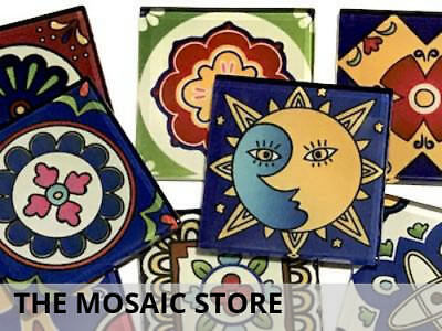Mexican Inspired Glass Mosaic Tiles 2.5cm (Mix 4) - Art Craft Supplies