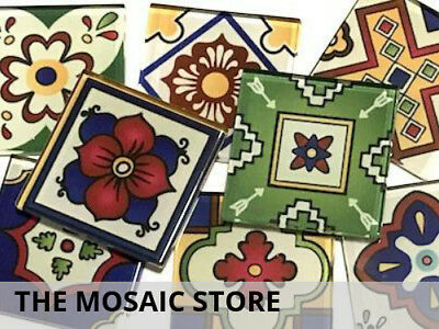 Mexican Inspired Glass Mosaic Tiles 2.5cm (Mix 3) - Art Craft Supplies