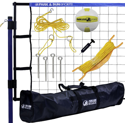 Volleyball Net Set Portable Court System Equipment Outdoor Beach Backyard Play N