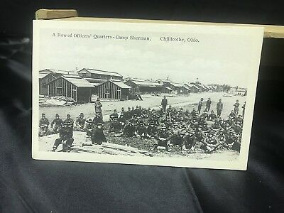 Vintage Chillicothe Ohio Camp Sherman postcard A Row of Officers Quarters