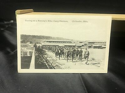 Vintage Chillicothe Ohio Camp Sherman postcard Starting on a Morning's Hike