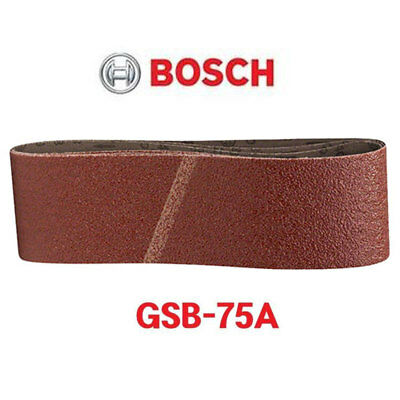 Bosch Sanding Belts 75x533mm 3Pcs #40,60,80,100,120,180,320,2608606069 Model
