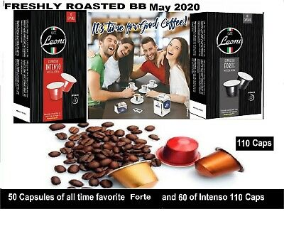 Nespresso Coffee Compatible capsules Pods Italian Mixed roast New 110 pods mixed