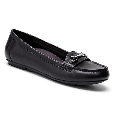 (9.5 B(M) US, Black) - Vionic with Orthaheel Technology Women's Kenya Loafer