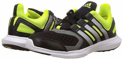 Adidas Boys Junior Kids Infants Hyperfast 2.0 Trainers Black Green New and Boxed